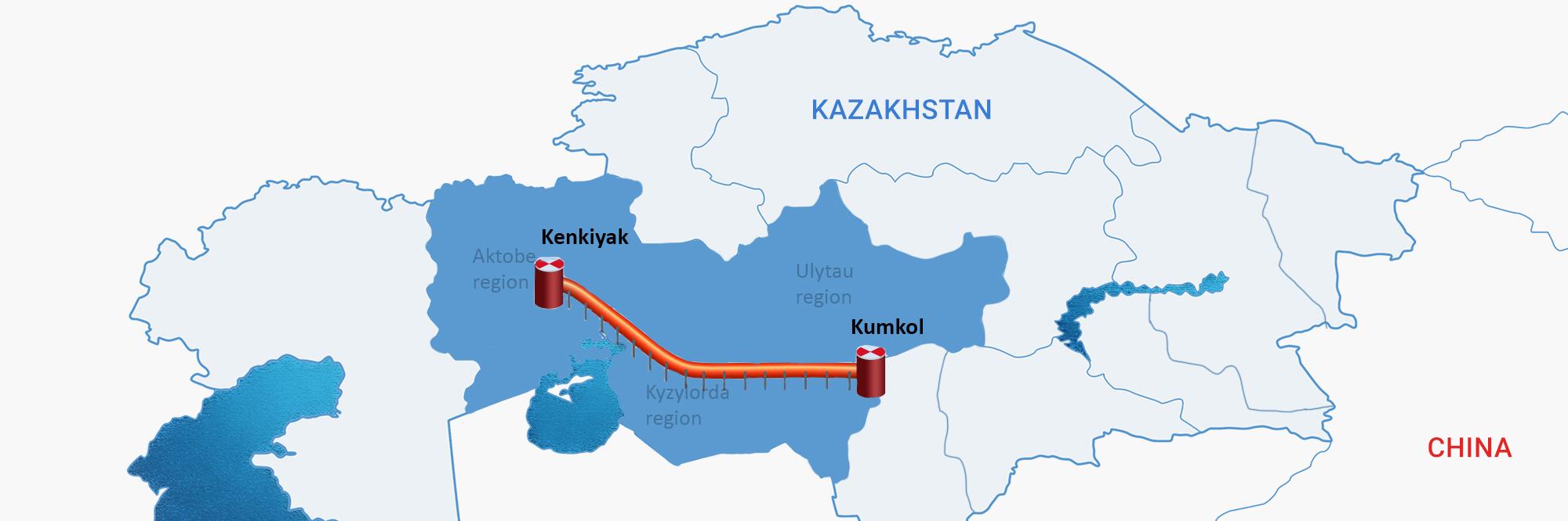 KazakhstanChina Pipeline Kenkiyak Kumkol